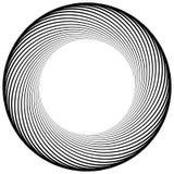 Круговой элемент сделанный радиальных линий абстрактная геометрическая форма Стоковое фото RF