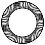 Круговой элемент сделанный радиальных линий абстрактная геометрическая форма Стоковое Фото