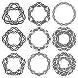 Круговые декоративные элементы для дизайна Стоковые Изображения