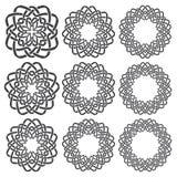 Круговые декоративные элементы для дизайна Стоковое Изображение