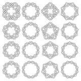 Круговые декоративные элементы для дизайна Стоковое фото RF