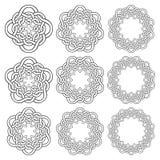 Круговые декоративные элементы для дизайна Стоковые Фото