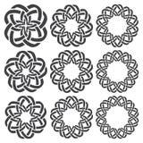 Круговые декоративные элементы для дизайна Стоковое Изображение RF