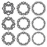 Круговые декоративные элементы для дизайна Стоковая Фотография