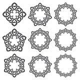 Круговые декоративные элементы для дизайна Стоковая Фотография RF