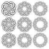 Круговые декоративные элементы для дизайна Стоковое Фото