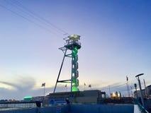Круговые лестницы вверх на курорте пристани Брайтона стоковая фотография rf