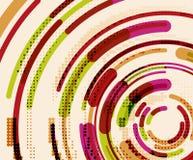 Круговые линии, круги, геометрическая абстрактная предпосылка иллюстрация штока