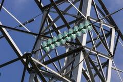 Круговые объекты на гидро-линии Стоковая Фотография RF