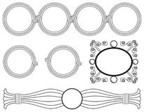 круговые рамки Стоковое Изображение RF