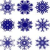 Круговые снежинки рождества картины Иллюстрация штока