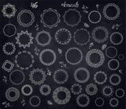 Круговые флористические дизайны иллюстрация штока