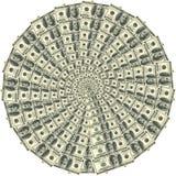 100 круговых долларов орнамента Стоковое фото RF