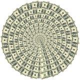 100 круговых долларов орнамента Стоковое Изображение RF
