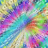 100 круговых долларов орнамента Стоковые Фотографии RF
