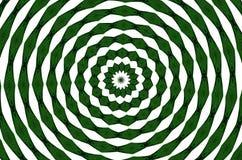 Кругом зеленый цвет и белизна Стоковое Изображение RF