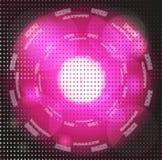 Круг абстрактной предпосылки фиолетовый накаляя Стоковое Изображение RF