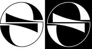 Круг абстракции изолированный и против темного логотипа дела дизайна предпосылки Стоковое фото RF