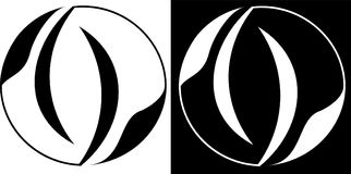 Круг абстракции изолированный и против темного логотипа дела дизайна предпосылки Стоковое Изображение