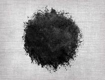 Круг акварели, черное падение на linen текстуре иллюстрация вектора