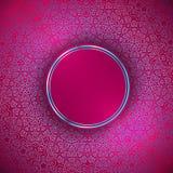 Круглая абстрактная рамка над декоративной орнаментальной предпосылкой Стоковые Фотографии RF