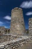 Круглая башня в верхнем замке Стоковая Фотография