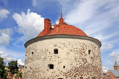 Круглая башня в Выборге, России Стоковое фото RF