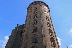 Круглая башня в Копенгаген, Дании Стоковые Фото
