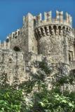 Круглая башня замка Стоковые Изображения