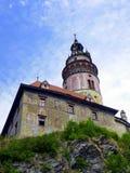 Круглая башня, замок Cesky Krumlov, чехия Стоковые Фотографии RF