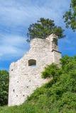 Круглая башня руин замка Стоковые Фотографии RF