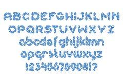 Круглая брошенная линия комплект шрифта Стоковые Изображения RF