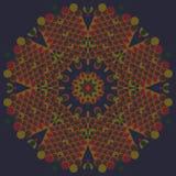 Круглая винтажная иллюстрация вектора орнамента Стоковые Фотографии RF