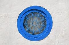 Круглая голубая сцена окна Стоковое Изображение