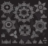 Круглая картина орнамента с порывом картины Стоковая Фотография RF