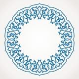Круглая картина орнамента. Стоковое Фото