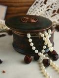 круглая коробка для ювелирных изделий стоковые фотографии rf