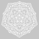 Круглая мандала с цветочными узорами покрасьте вектор возможных вариантов картины различный Стоковые Фото