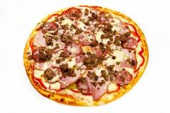 Круглая пицца с мясом 9 стоковое фото