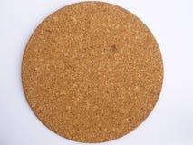 Круглая пробковая доска стоковое изображение rf
