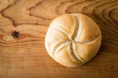 Круглая плюшка сандвича Стоковое Изображение RF