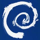 Круглая рамка акварели, форма формы круга изолированная на белой предпосылке Handmade метод Стоковое Изображение RF