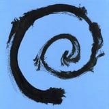 Круглая рамка акварели, форма формы круга изолированная на белой предпосылке Handmade метод Стоковые Изображения RF