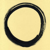 Круглая рамка акварели, форма формы круга изолированная на белой предпосылке Handmade метод Стоковая Фотография RF