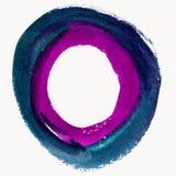 Круглая рамка акварели, форма формы круга Стоковое Изображение RF