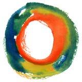 Круглая рамка акварели, форма формы круга Стоковые Фотографии RF
