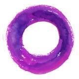 Круглая рамка акварели, форма формы круга Стоковые Изображения RF