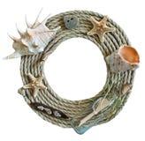 Круглая рамка веревочки Стоковые Фотографии RF