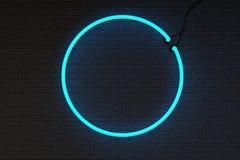 Круглая рамка знака Neoan Стоковые Фотографии RF