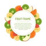Круглая рамка плодоовощ Стоковое Фото